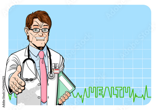 Cheerful doctor