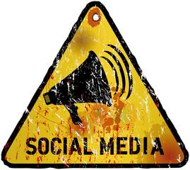 social media sign vector illustration