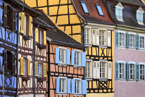 Colourful half timbered houses, Colmar, Alsace