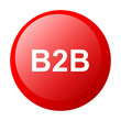 bouton internet B2B icon red white background