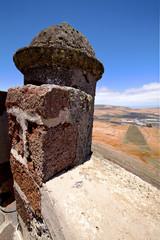 arrecife  lanzarote  spain the old wall castle  sentry
