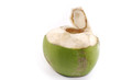 Opened coconut isolated
