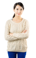 Young asian woman smile