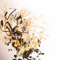 Abstract vector music background