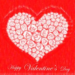 Romantic valentine´s card