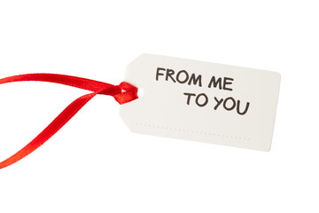 gift tag with text