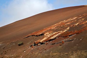 in los volcanes lanzarote  spain volcanic t