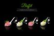 Elegant spoons with puree and garnish, gourmet cuisine - 59648874