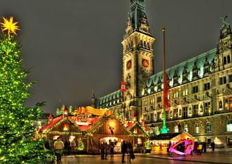 Hamburg, Weihnachtszeit.