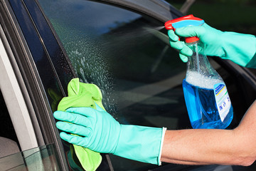 Car window washing