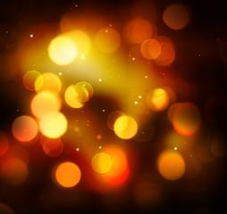 Golden Festive Christmas Holiday Background