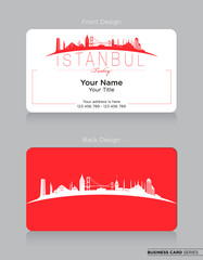Modern Business-Card Design with Istanbul Icon