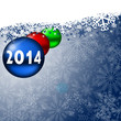 2014 new years card with christmas balls