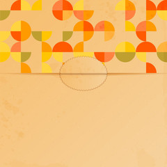 abstract background with a pattern of circles.blank sheet of pap