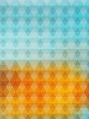 blue yellow hexagons vector geometric background with gradients