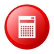bouton internet calculatrice finance red white background
