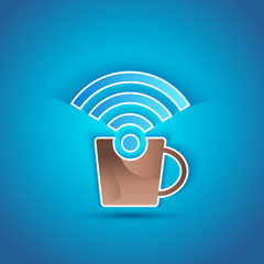 3d icon paper Internet Cafe with shadow effect