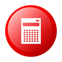 bouton internet calculatrice finance red white background