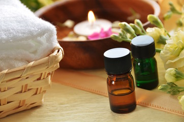 aromatherapy treatment with candle