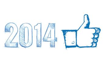 Like thumb new year 2014