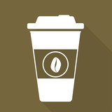 Takeaway paper coffee cup ico