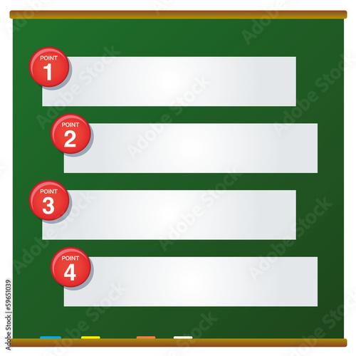 黒板・説明デザイン素材