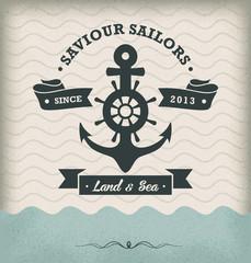 Vintage Retro Nautical Badge