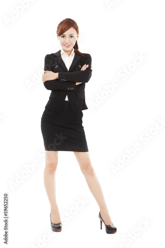 smart young  businesswoman  standing
