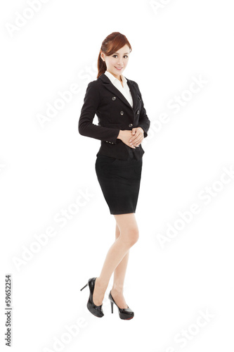 smiling young asian business woman