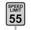 Speed Limit 55 Sign