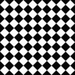Black and White Diagonal Checkers on Textured Fabric Background
