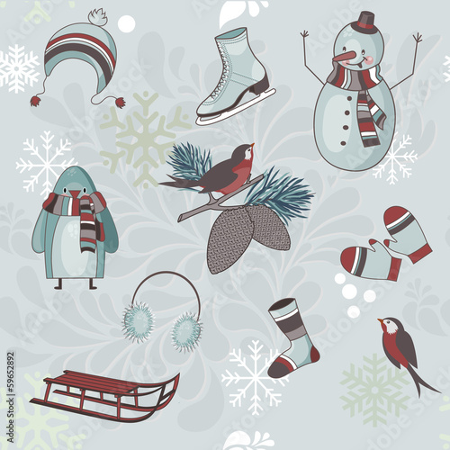 Winter Clip Art - Icons and symbols