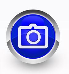 Knopf blau Camera