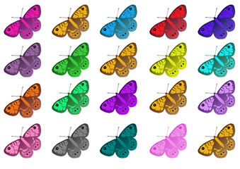 mukticolored butterflys pattern