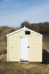 Beach Hut at Hunstanton, Norfolk, UK