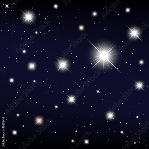 cosmos. star in the night sky. Vector illustration