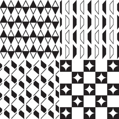 abstract seamless pattern black and white