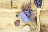 Natural Lavender Spa Treatment Background