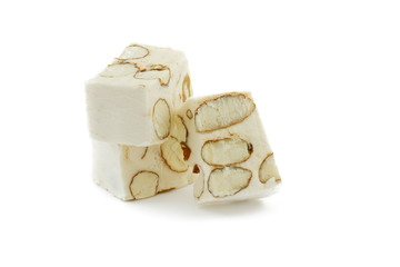 Sweet nougat with almonds
