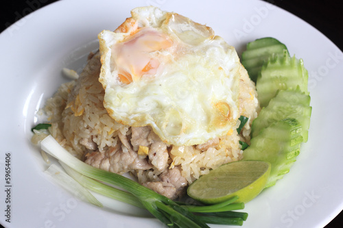 Fried rice with pork