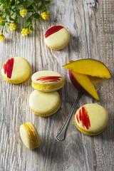 yellow macaroon