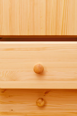 Wooden cabinet drawers