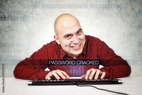 Computer hacker cracked security password