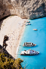Zakynthos shipwreck bay - main island tourist attraction