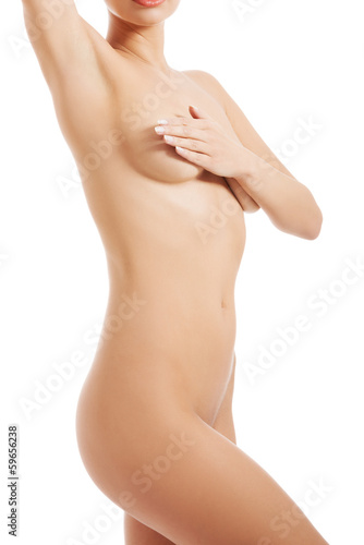 Beautiful naked woman's body.