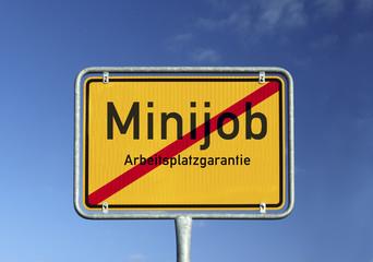 Schild Minijob © Matthias Buehner