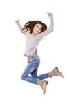 Fototapety Little girl jumping