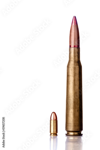 9mm pistol and 12mm sniper bullets side by side
