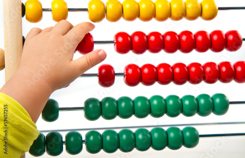 Colorful toy abacus to learn counting