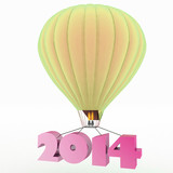 2014 a year flies on a balloon